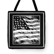 Star Spangled Banner Bw Tote Bag