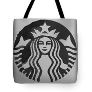 Starbuck The Mermaid In Black And White Tote Bag