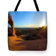 Starburst At Delicate Arch Tote Bag