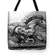 Startled Equus Tote Bag