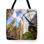Statue And Spires Tote Bag