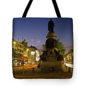 Statue Of A Man On A Pedestal On The Tote Bag