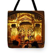 Statues Of Ram And Lakshman And Sita At The Iskcon Temple In Delhi Tote Bag