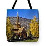 Stave Church In Lom Tote Bag