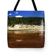 Steam At Firehole Lake Tote Bag