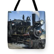 Steam Engine And Sailboats Tote Bag