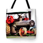 Steam Engine Tractor  Tote Bag