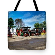 Steam Engines Lined Up Tote Bag