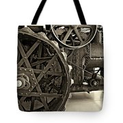 Steam Power Monochrome Tote Bag