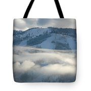 Steamboat Ski Area In Clouds Tote Bag