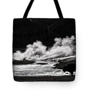 Steaming Bison Tote Bag