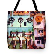Steampunk - Electrical Control Room Tote Bag