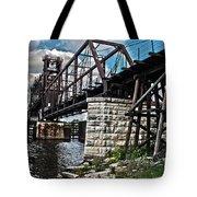 Steel Water Hdr Number 7 Tote Bag