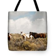 Steens Wild Horses Tote Bag