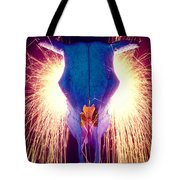Steer Skull With Sparks  Tote Bag