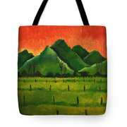 Stellenbosch Mountain Tote Bag
