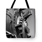 Steme Engine Front Black And White Tote Bag