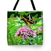 Stencilled Butterfly Tote Bag