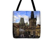 Stepping Off The Bridge Tote Bag
