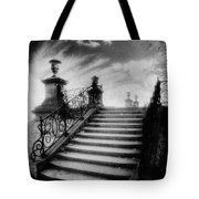 Steps At Chateau Vieux Tote Bag by Simon Marsden