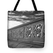 Steps Of Central Park In Black And White Tote Bag