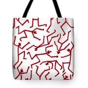 Stickmen Characters Nine Eleven Two K Ten Tote Bag