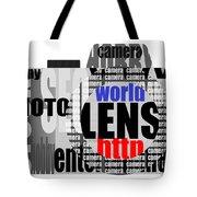 Still Camera From Words Tote Bag