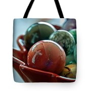 Still Life Crosses Reflected In Bowl Of Glass Marbles Art Prints Tote Bag