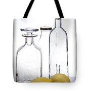 Still Life Of Bottles  And Lemons Tote Bag