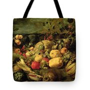 Still Life Of Fruits And Vegetables Tote Bag