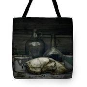 Still Life With Bear Skull Tote Bag