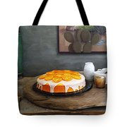 Still Life With Cake And Cactus Tote Bag