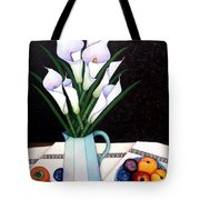 Still Life With Callas Tote Bag