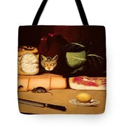 Still Life With Cat And Mouse Tote Bag
