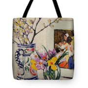 Still Life With Flowers In A Vase   Tote Bag