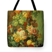 Still Life With Fruit And Flowers Tote Bag