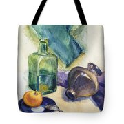 Still Life With Green Bottle Tote Bag