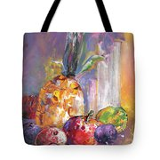Still Life With Pineapple Tote Bag