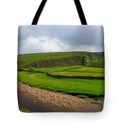 Stone Barn In A Fold Of The Landscape Tote Bag