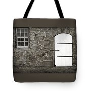 Stone Barn Window Cathedral Door Tote Bag