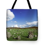 Stone Circles On A Landscape, Beaghmore Tote Bag