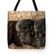 Stone Faces Tote Bag