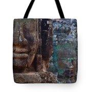Stone Heads At Bayon Temple Tote Bag