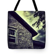 Stone House In Storm Tote Bag