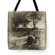 Stone Lantern And Temple Bell Tote Bag