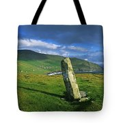 Stone On A Landscape, Ogham Stone Tote Bag