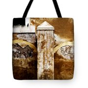 Stone Sight - Two Arches And A Column Draws A Disturbing Almost Human Face Tote Bag