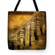 Stone Stairs And Balustrade. Tote Bag