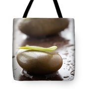 Stones With Water Drops Tote Bag