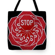 Stop Sign Kalidescope Tote Bag